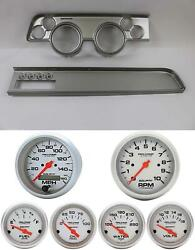 67-68 Cougar W/ac Silver Dash Carrier W/ Auto Meter Ultra Lite Electric Gauges