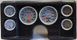 82-88 Chevy G Body Carbon Dash Carrier W/ Auto Meter Ultra Lite Electric Gauges