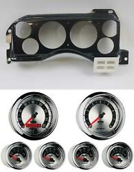 87-89 Mustang Carbon Dash Carrier W/ Auto Meter American Muscle Gauges