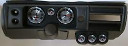 68 Chevelle Black Dash Carrier W/ Auto Meter 5 American Muscle Gauges No Astro