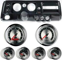 68 Chevelle Carbon Dash Carrier W/ Auto Meter 5 American Muscle Gauges W/ Astro