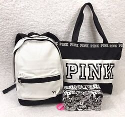 Victoria Secret PINK Backpack Tote & Makeup Bag