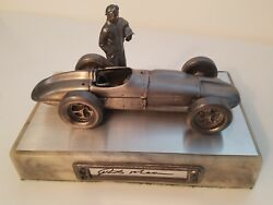 Rick Mears-indy Car-autographed Limited Edition Michael Ricker Pewter Statue