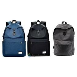 BW#A Men External USB Charge Backpack Canvas Male Travel Laptop Backpack