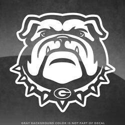 Georgia Bulldogs Logo Vinyl Decal Sticker 4quot; Size and Up More Colors