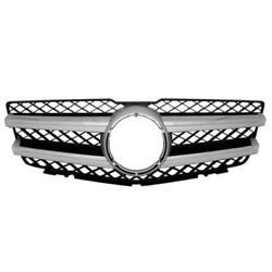 Capa 10-15 Glk250 And Glk350 Grill Grille Assembly Black/chrome With Aluminum Trim