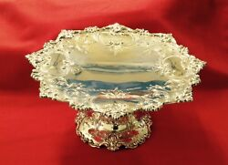 Magnificent All Sterling Cake Plate/tazza By Shreve And Co