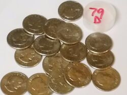 16 Circulated 1979-d Susan B. Anthony Dollars. Business Denver Mint. Real Coins