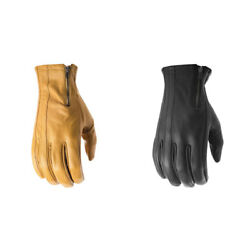 Highway 21 Mens Recoil Leather Motorcycle Gloves With Ykk Zip Pick Size And Color