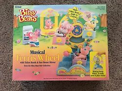 Tyco Bitsy Bears Musical Ferris Wheel With Ticket Booth And Fun House Mirror