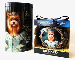 Yorkshire Terrier Gift box & Christmas toy Richard tea the royal dogs Limited Ed