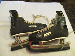 Vintage Bauer 1960's  Black Panther Ice Hockey Skates Size 10