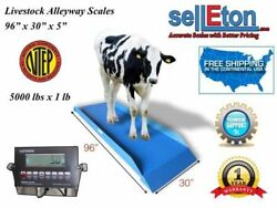 Ntep Legal For Trade Livestock Cattlevet Alleyway Scale 5000 Lbs X 1 Lb