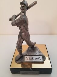 Stan Musial-autographed-hof Limited Edition Michael Ricker Pewter Statue