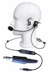 New Ufq In-ear Helicopter Pilot Headset Ufq L1 Super Light Weight Quiet As Anr