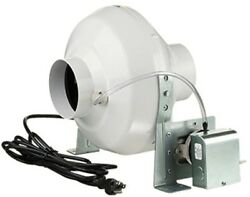 Dryer Booster Fan with 4 In. Duct 162 CFM Garden Center Grow Room Ventilation