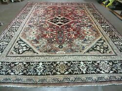 9and039 X 12and039 Antique Hand Made Indian Agra Wool Rug Carpet Vegetable Dyes 720