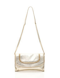 MICHAEL MICHAEL KORS zip design chain clutch bag gold