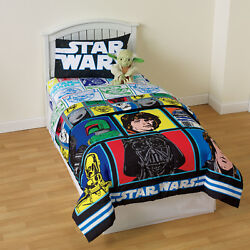 Star Wars Star Wars Kid's Twin Size Comforter Soft Bed Set Colorful Classic New