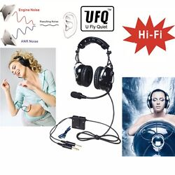 Ufq Anr Aviation Headset Great Anr And Hi-fi Speakers For Music Free With Bag