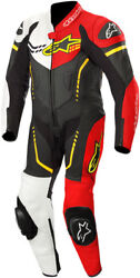 Alpinestars Youth Gp Plus Cup Leather Suit Black/white/flo Red/flo Yellow