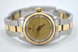 Lady Rolex Oyster Perpetual Reference 6724 Steel And Gold 25 Mm