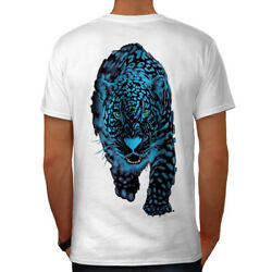 Wellcoda Panther Animal Sneak Mens T-shirt Cougar Graphic Design on the Back