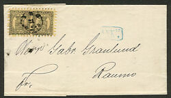 Finland 1873 10pen Pair Tied Abo Folded Letter To Raumo Signed Richter