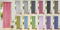 6pc Wholesale Deal Printed Voile Sheer Window Grommet Panel Curtain 2tone S38
