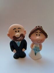 Wedding Cake Toppers Personalised Bride And Groom Mini Topper Choice Of Colours