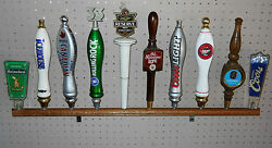 Lot Of 10ea - 10 Wall Mount Beer Tap Handle Display X10 Holds 100 Taps