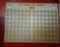 Andpounds For Lbs Weight Loss Journey Board Chart Tracker Plaque Wood Personalised
