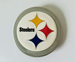 Pittsburgh Steelers 3.5 Round Fine Pewter Belt Buckle Officially Licensed Metal