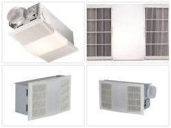 Best Exhaust Fan w Light and Heater Bathroom Ceiling Ventilation White 70 CFM