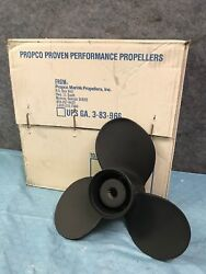 New Propco Yamaha Aluminum 12 X 9 Pitch 25-30 Hp Outboard Propeller
