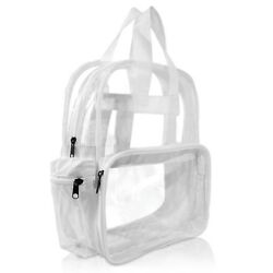 DALIX Clear Backpack School Pack See Through Bag in White Free Shipping $11.95