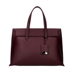 TOM FORD Women Purple Wine Leather Tote Bag Handbag Made in Italy