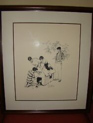 Norman Rockwell Fidoand039s Dog House Signed Limted Edition Lithograph