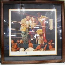 Evander Holyfield The Corner Brent Benger Signed Limited Edition Lithograph