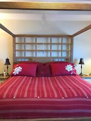 Beautiful King Size Four Poster Canopy Bed Made In Bali From Baer's Furniture To