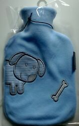 Fashy 0.8l Hot Water Bottle With Fleece Cover Made In Germany 6505 51