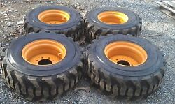 4 New 14x17.5 Skid Steer Tires And Rims For Case - 14 Ply Rating - 14-17.5