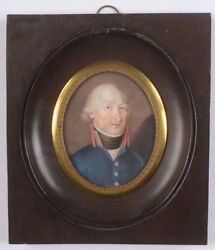 Stefano Casabona Officer Of French Republican Army Miniature Ca. 1800