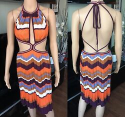 Missoni Sexy Cutout Open Back Dress Gown