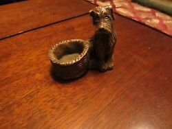 Vintage Airedale (Fox) Terrier welsh statue trinket box dog jewelry