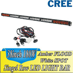 Dual Color Switch AmberWhiteStrobe 40'' 180W CREE Led light Bar Offroad SUV 38