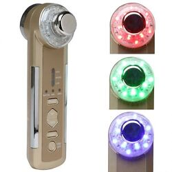 4-1 Photon Ultrasonic LED Electric Facial Massager Skin Care Tighten lift Device