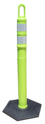 Lime Green Traffic Cones / 48 Delineator Looper Cones 100 Posts And 12lb Bases