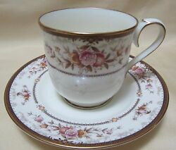 Vintage China Tea Cup And Saucer Noritake Japan Brently Copper Gold Floral.