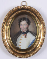 Officer Of The Austrian Line Infantry, High Quality Miniature, 1815/25